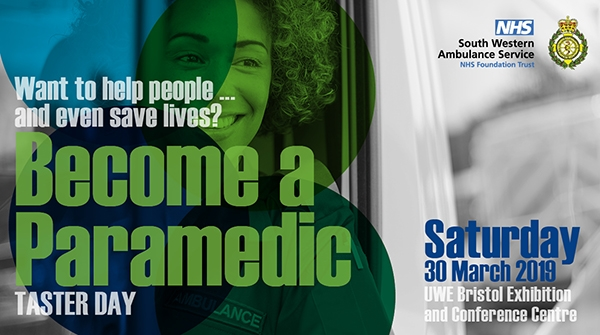 Become a Paramedic Taster Day 2019 promo